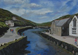 Boscastle Harbour by Lisa Oakley Artist