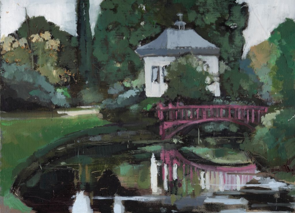 'Chinese House at Shugborough' By Lisa Oakley